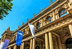 Οικονομική μητρόπολη χρηματιστηρίου της Φρανκφούρτης στη Γερμανία στοκ εικόνες