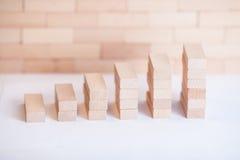 Οικονομική ξύλινη γραφική παράσταση στοκ εικόνες με δικαίωμα ελεύθερης χρήσης