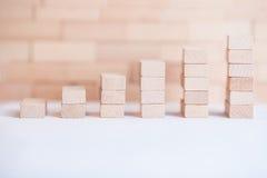 Οικονομική ξύλινη γραφική παράσταση στοκ εικόνες