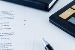 Οικονομική λογιστική επιχειρησιακών φύλλων Στοκ φωτογραφία με δικαίωμα ελεύθερης χρήσης