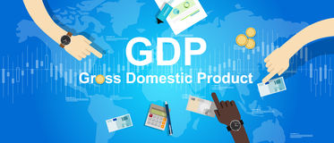 Οικονομική οικονομία απεικόνισης ακαθάριστων εγχώριων προϊόντων ΑΕΠ Στοκ φωτογραφίες με δικαίωμα ελεύθερης χρήσης