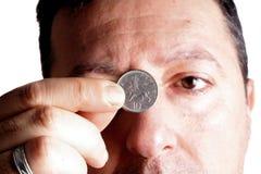 οικονομική πέννα διαγραμμάτων κρίσης έννοιας επιχειρησιακών υπολογιστών Στοκ εικόνα με δικαίωμα ελεύθερης χρήσης