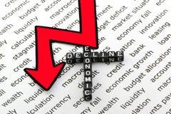 Οικονομική πτώση και οι κίνδυνοι στοκ εικόνες