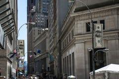 Οικονομική πόλη ΗΠΑ η μεγάλη Apple της Νέας Υόρκης περιοχής χρημάτων Γουώλ Στρητ Στοκ φωτογραφία με δικαίωμα ελεύθερης χρήσης