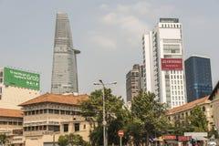 Οικονομική πόλη Χο Τσι Μινχ πύργων Bitexco Στοκ Εικόνα