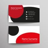 οικονομική σειρά επαγγελματικών καρτών Στοκ Εικόνα