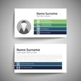 οικονομική σειρά επαγγελματικών καρτών Στοκ Φωτογραφίες