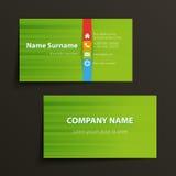 οικονομική σειρά επαγγελματικών καρτών Στοκ Φωτογραφία