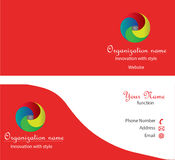 οικονομική σειρά επαγγελματικών καρτών Στοκ εικόνες με δικαίωμα ελεύθερης χρήσης