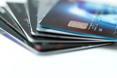 οικονομική στενή στοίβα πεδίων πιστωτικού βάθους έννοιας καρτών πολύ Στοκ εικόνα με δικαίωμα ελεύθερης χρήσης