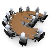 οικονομική συνεδρίαση Στοκ εικόνα με δικαίωμα ελεύθερης χρήσης