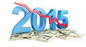 Οικονομική υποχώρηση το 2015 Στοκ εικόνα με δικαίωμα ελεύθερης χρήσης