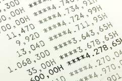Οικονομικοί απολογισμοί Στοκ φωτογραφία με δικαίωμα ελεύθερης χρήσης