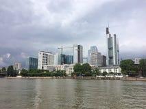 οικονομικοί ουρανοξύστες οριζόντων της Φρανκφούρτης περιοχής στοκ φωτογραφία