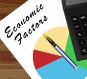 Οικονομικοί παράγοντες που σημαίνουν την οικονομική τρισδιάστατη απεικόνιση χαρακτηριστικών γνωρισμάτων διανυσματική απεικόνιση