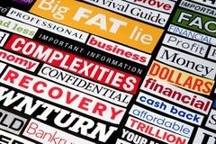 οικονομικοί τίτλοι στοκ εικόνες