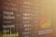 Οικονομικός ειρηνικοασιατικός πίνακας αγοράς χρηματιστηρίου στο υπόβαθρο στοιχείων χρηματιστηρίου Στοκ φωτογραφίες με δικαίωμα ελεύθερης χρήσης