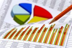 Οικονομικός επιχειρησιακός υπολογισμός Στοκ φωτογραφία με δικαίωμα ελεύθερης χρήσης