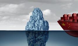Οικονομικός κίνδυνος της Κίνας απεικόνιση αποθεμάτων