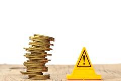 οικονομικός κίνδυνος πτώση νομισμάτων Στοκ Εικόνες