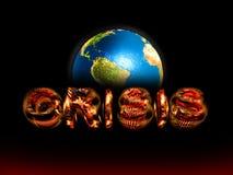 οικονομικός κόσμος κρίσης Στοκ Εικόνες