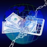 οικονομικός κόσμος κρίσ&e Στοκ εικόνα με δικαίωμα ελεύθερης χρήσης