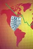 οικονομικός κόσμος κρίσ&e Στοκ φωτογραφία με δικαίωμα ελεύθερης χρήσης