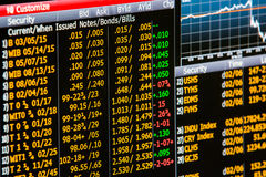 Οικονομικός οικονομικός πίνακας στοιχείων με το διάγραμμα και το ποσοστό Στοκ Εικόνα