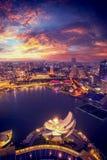 Οικονομικός ορίζοντας περιοχής της Σιγκαπούρης στοκ φωτογραφία