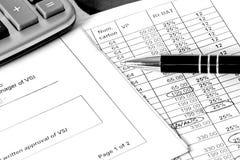 οικονομικός προγραμματισμός ποντικιών γραφικών παραστάσεων δολαρίων τραπεζογραμματίων Στοκ εικόνες με δικαίωμα ελεύθερης χρήσης