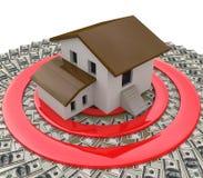Οικονομικός στόχος και το σπίτι απεικόνιση αποθεμάτων