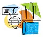 οικονομικός σχεδιασμό&sigma Διανυσματική απεικόνιση