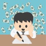 Οικονομικός σχεδιασμός επιχειρηματιών στην έννοια επιτραπέζιας απεικόνισης απεικόνιση αποθεμάτων