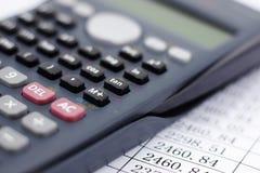 Οικονομικός υπολογιστής Στοκ Εικόνες