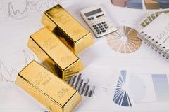 οικονομικός χρυσός έννοιας ράβδων Στοκ φωτογραφία με δικαίωμα ελεύθερης χρήσης