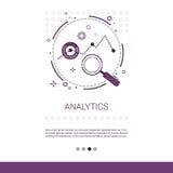 Οικονομικό έμβλημα Ιστού επιχειρησιακής ανάλυσης Analytics με το διάστημα αντιγράφων απεικόνιση αποθεμάτων
