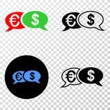 Οικονομικό διανυσματικό EPS συνομιλίας εικονίδιο μηνυμάτων με την έκδοση περιγράμματος απεικόνιση αποθεμάτων