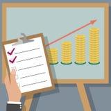 οικονομικό επιχειρηματικό σχέδιο Στοκ εικόνα με δικαίωμα ελεύθερης χρήσης