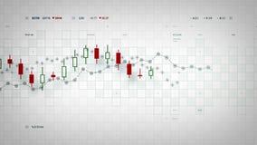 Οικονομικό λευκό καταδίωξης στοιχείων διανυσματική απεικόνιση
