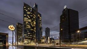 Οικονομικό κέντρο της Βαρσοβίας απόθεμα βίντεο