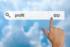 Οικονομικό κέρδος στη ράβδο εργαλείων αναζήτησης Στοκ φωτογραφία με δικαίωμα ελεύθερης χρήσης