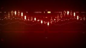Οικονομικό κόκκινο καταδίωξης στοιχείων απεικόνιση αποθεμάτων