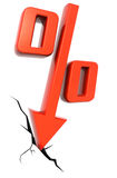 οικονομικό ποσοστό απε&lam στοκ φωτογραφία με δικαίωμα ελεύθερης χρήσης