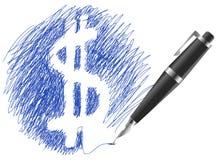 οικονομικό σύμβολο σκίτ&s Στοκ εικόνες με δικαίωμα ελεύθερης χρήσης