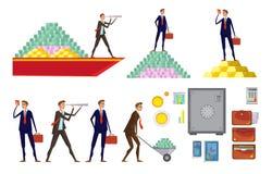 Οικονομικό σύνολο εικονιδίων πλούτου Στοκ Φωτογραφίες