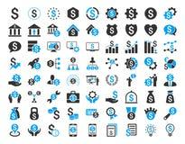 Οικονομικό σύνολο επιχειρησιακών εικονιδίων Στοκ Φωτογραφία
