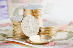 Οικονομικό υπόβαθρο με τα ουκρανικά χρήματα στοκ φωτογραφίες