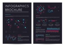 Οικονομικό φυλλάδιο με το διάφορο infographics απεικόνιση αποθεμάτων