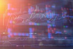 Οικονομικό ananlysis γραφικών παραστάσεων χρηματιστηρίου διανυσματική απεικόνιση