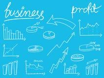 Οικονομικό Doodles Στοκ φωτογραφία με δικαίωμα ελεύθερης χρήσης